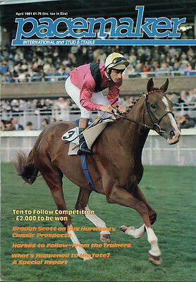Pacemaker Magazine April 1981- vintage horse racing publication