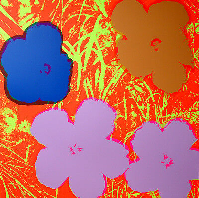 ANDY WARHOL Pop Art - Sunday B Morning - Flowers 11.69 - Screen print + COA