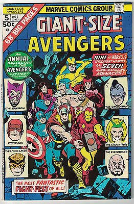 Marvel Comics THE AVENGERS GIANT-SIZE Issue 5 Earth's Mightiest Heroes! FN+