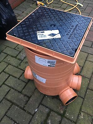 300mm Inspection Chamber - Manhole 1 base 2 Rises With Lid
