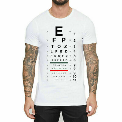 Cool Tops Come Closer visual Chart Design White Men's T-Shirt Funny Male Printed