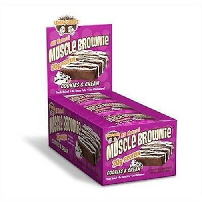 #045  Lenny & Larry ++ Muscle Brownie ++ (12x 65g) Cookie & Cream