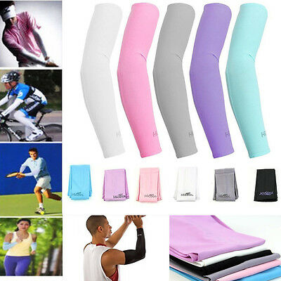 1Pair Cooling Sport Basketball Arm UV Sun Protection Athletic Sleeves Cover