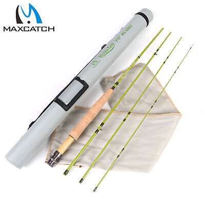 "Maxcatch 1/2/3WT Fly Rod 6'/6'6""/7'/7'6"" IM10/40T SK Carbon Fly Fishing Rod"