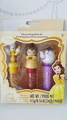 OFFICIAL Disney Beauty And The Beast Lumiere Belle Mrs Potts Lip Balms FLAVOURED