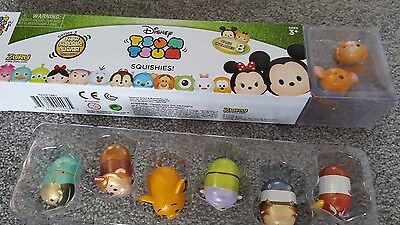 NEW BOXED Tsum tsum squished squishy 8 pack. Series 3. Metallic.
