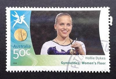 AUSTRALIA 2006 COMMONWEALTH GAMES - HOLLIE DYKES - GOLD MEDALIST - postal used