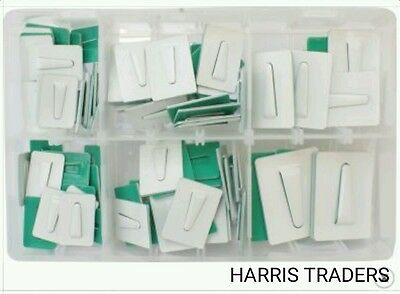 Assorted Box Of Self Adhesive  Cable Ties Clips Ancors Coated Steel Qty 100