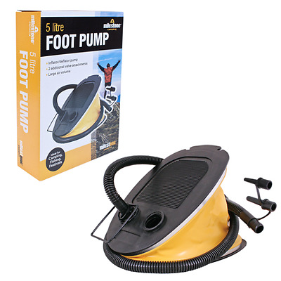 Inflate Deflate Footpump Pool Boat Toys Camping Airbed Mattress Step Pump 5L