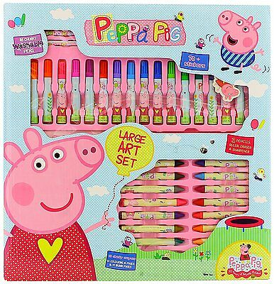 Peppa Pig Mega Art Collection- pens, wax crayons, pencils, stickers & more