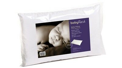 Babyrest Bassinette Baby Pillow for Prams with Removable Cotton Cover - White