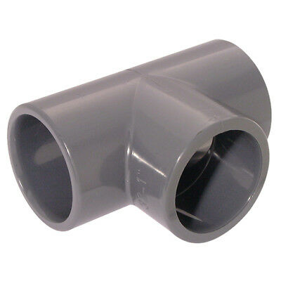 "TE43-6-ABS, 6""     ID SOLVENT EQUAL 90TEE ABS  LGREY, UPVC  Nylon & Polypro Fitt"