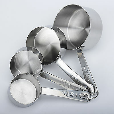 Silver Stainless Steel Measuring Cup Seasoning Spoon Flour Cups Measuring Tool