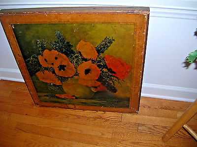 VINTAGE WOOD CARD TABLE TOP PLAQUE vERY COOL!