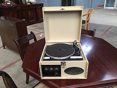 Vintage Portable Record Player BSR Deck Working