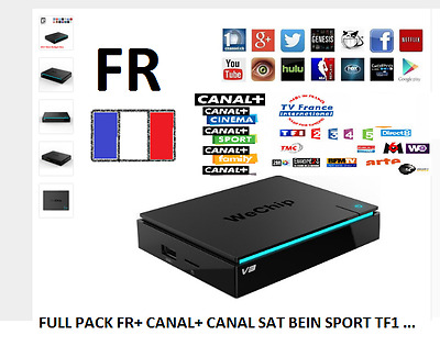 2017 Wechip V3 Android TV Box RK3229 1 GB DDR 8 GB 4 K Bein Sport Canal+ Pack fr