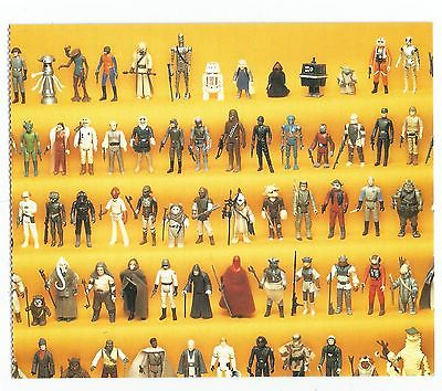 1995 STAR WARS ACTION FIGURES  Postcard