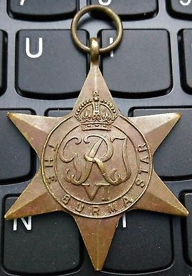 "The Burma Star Medal 'named Medal See In Photo"" Rare"