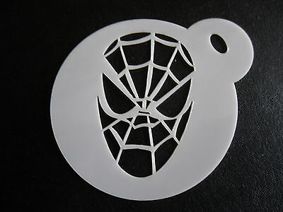 Laser cut small spiderman design cake, cookie,craft & face painting stencil
