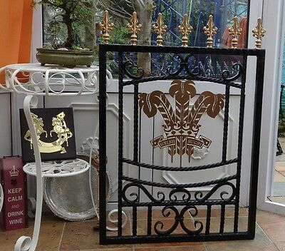 Wrought Iron Gate, single gate garden gate drive gate Three Feathers Welsh Rugby