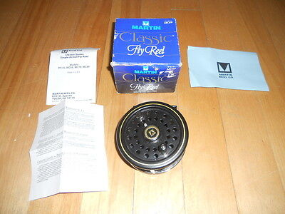 Vintage Fly Fishing Reel Martin MC 89, Unfished, Mint, USA,   Rod Reel's n Deals