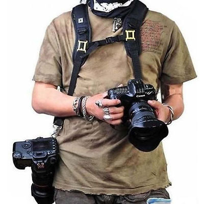 New Double 2 SLR Camera Shoulder Strap Dual Neck Belt For Canon Nikon Fuji DSLR