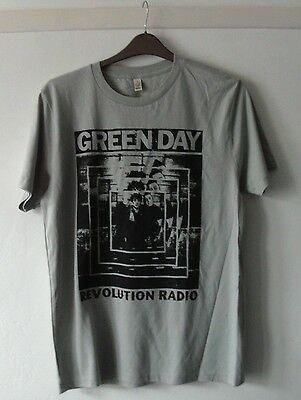 Green Day Revolution Radio Mens New Cotton T Shirt Medium Chest 40 Inches Grey