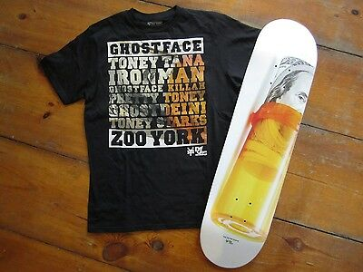 Zoo York Limited Skateboard + T-Shirt Ghostface Killah Album Def Jam Collabo