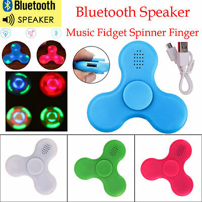 Bluetooth Speaker Music LED Fidget Spinner Hand Toy EDC Fidget Gyro with USB