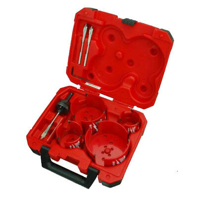 8pc Plumbers Big Hawg Hole Cutter Kit Milwaukee 49-56-9080 New