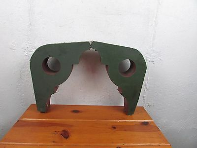 """2 VICTORIAN ANTIQUE CORBELS 15"""" WOOD  Painted ARCHITECTURAL SALVAGE Great"""