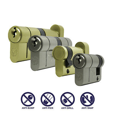 Euro Cylinder Lock - Anti Snap - High Security - Widest Range of Sizes