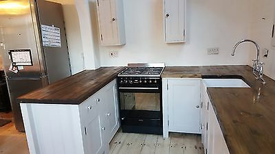 Freestanding, Handmade, Handpainted kitchen units, worktop, sink and tap