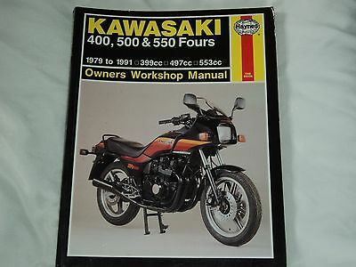 Haynes Kawasaki 400, 500 & 550 Fours 1979 to 1991   Workshop  Manual