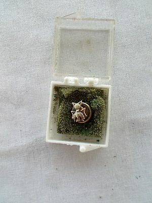 """Knights Of Columbus Tie Tack Small Round 1/3"""" In Plastic Case"""