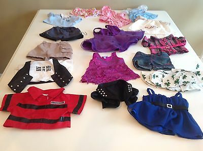 Build A Bear clothing Lot of 16 pcs: fireman, fancy & sport outfits