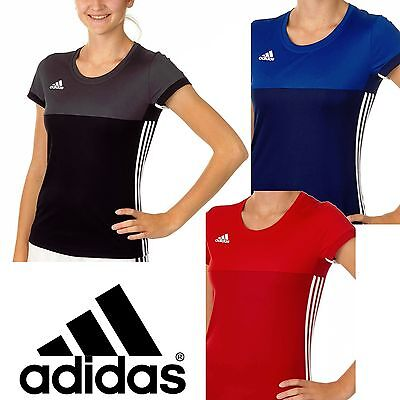 adidas Ladies T16 Climacool Sports Tee Womens Gym Running T-Shirt Track Top