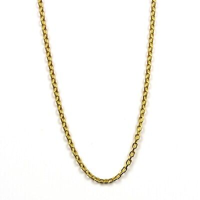18 inch sterling silver chain with gold plate