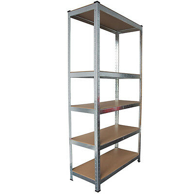 NEW 5 Tier Boltless Garage Shelving Racking Unit Heavy Duty Storage Rack Metal