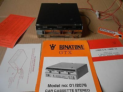 VINTAGE CLASSIC CAR Binatone GTX Cassette Player With Original Instructions.