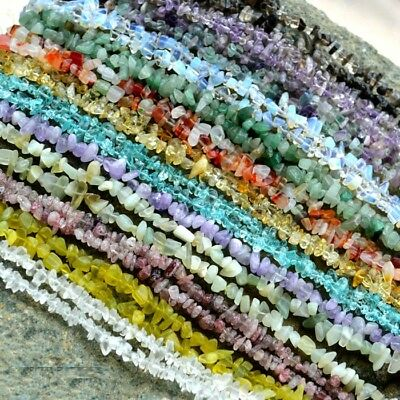 """4-6&6-8mm Freeform Stone Chip Gemstone For DIY Jewelry Making Spacer Beads 34"""""""