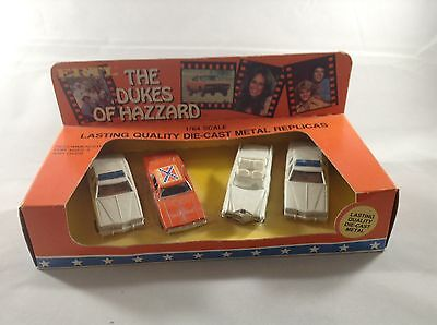 Dukes Of Hazzard Vintage 1981 Die Cast 1/64 Scale cars General Lee Set Sealed