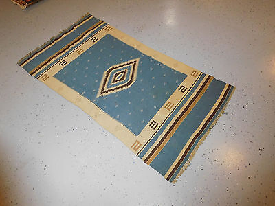 Texcoco Child's blanklet native weaving rug Mexican