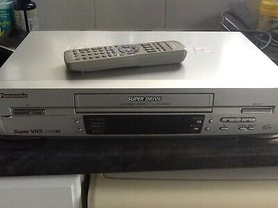 Panasonic NV-HS820 S-VHS Super VHS VCR Video Recorder With Remote Control