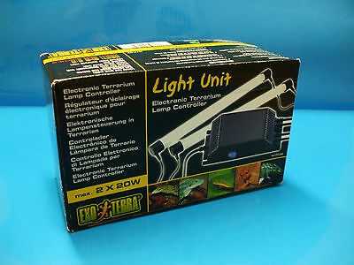 ExoTerra Reptile Vivarium light unit 2x20w T8