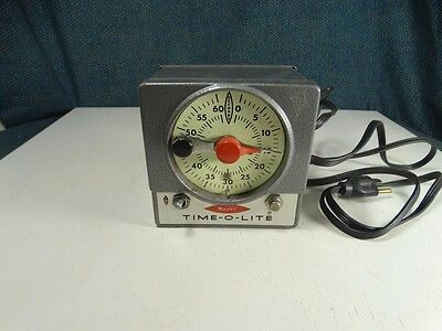 Tested Master Time-O-Lite Industrial Timer Darkroom Photography Equipment M-72