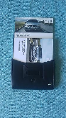 BMW 3 Series Owners Manual Handbook Pack 2011 and leather wallet