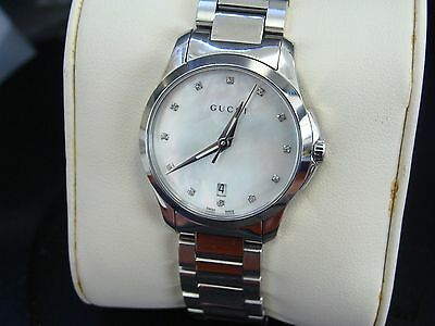 7a4fae1b44e WOMENS MOTHER OF Pearl and Diamond Dial Gucci Watch 16169092 ...