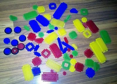 Assorted Loose Stickle Bricks Sticklebricks Bundle approx. 65 pieces