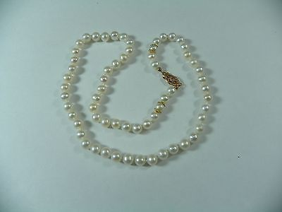 Blue Lagoon Mikimoto 14k Gold Akoya Cultured Pearl Necklace 6 to 5.5 mm 16""